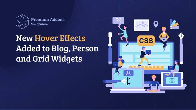 3 New Hover Effects added to Blog, Person and Grid Widgets